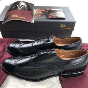 Allen Edmonds CHESTER Black Brogue Wingtip Men's Shoes Sz 13 AAA Narrow NWB