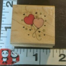 Tiny heart balloons,c,22,hero arts,wooden,rubber,stamp