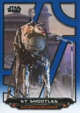 Star Wars Galactic Files Reborn Blue Parallel Base Card ROTJ-12 Sy Snootles
