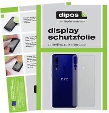 5x Schutzfolie für HTC Wildfire X Rückseite Display Folie matt