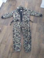 Walls Blizzard Pruf Camo Insulated Work Hunting Coveralls Medium Tall Made USA
