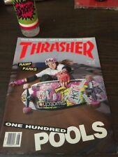 Thrasher Skateboard Magazine August 1989 Carabeth Burnside Eric Nash 8/89 Aug