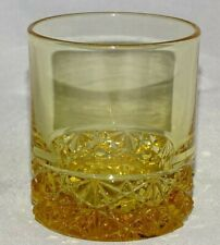 Wright USA Daisy & Button Amber/ Topaz Shot Glass or Toothpick