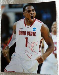 San Antonio Spurs Deshaun Thomas Signed Ohio State Buckeyes 8x10 Photo Auto