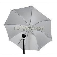 """33"""" Durchlichtschirm weiß 84cm Translucent Studioschirm Umbrella Diffuser white"""