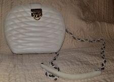 Giorgio Beverly Hills handbag purse cross body white cream EUC