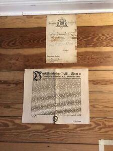 2 alte Dokumente Herzogtum Braunschweig  . (006)