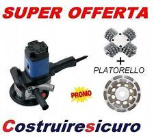 fresatrice RURMEC RL 120 per cemento pietra levigatrice c kit frese + platorello