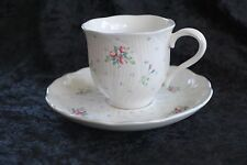 Mikasa Spring Melodies China Teacup & Saucer, Song of Love Pattern, Discontinued
