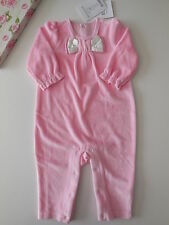 Beautiful Mom & Bab Baby Girl Soft Velour Coverall Size 0 Fits 6-9 mths *Gift*