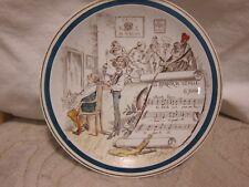"""Vtg Creil & Montereau Sujets Musicaux hand painted plate """"Le Barbier de Seville"""""""