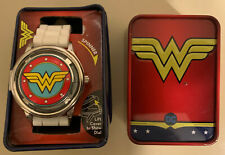 Dc Comics Wonder Woman Spinner Watch With Silicone Band