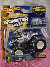 New Look! 2017 MONSTER JAM 25 ~ 3/6 Flashback ICE MONSTER Truck☆Flag☆Hot Wheels