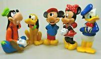 Disney  Mickey Minnie Maus Mouse Goofy Donald Pluto Weichplastik 5 Sammelfiguren