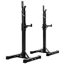 Support pour haltères longs barres à disques rangement rack noir max 100kg