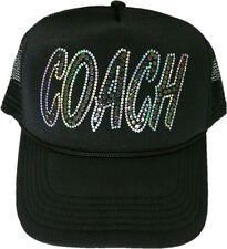 Women's headcoach cap no rhinestones ultra bling sparkly gym trucker trainer hat