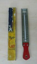 Vintage Taylor Candy Guide Thermometer Red Wood Handle In Box Retro Kitchen