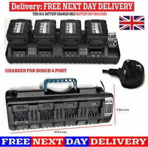 Charger FOR BOSCH BS1418-04 18V 14.4V 4 Port Li-ion Fast Battery 5V USB