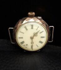 Alte Taschenuhr UHR Armbanduhr Cylindre 10 Rubis 800er Silber defekt