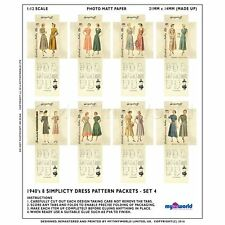 8 MINIATURE Do It Yourself Simplicity PATRON ROBE paquets (dpds04)
