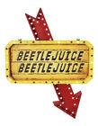 Light Up Hanging Marquee Beetlejuice Sign LED Indoor Outdoor Halloween Decor