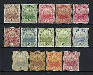 Bermuda 1922-34 Sc#81//91  Caravel Definitives  MH Used $64.00 TWO SCANS