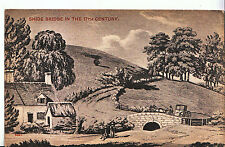 Hampshire Postcard - Shide Bridge in The 17th Century - Showing Cottage    X945