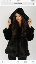 New Fashion Ladies Womens Faux Fur Coat Winter Parka Outerwear XS RRP £195