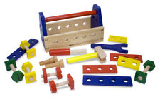 NEW! Wooden Toolbox And Tools-Sturdy, colourful, inspiring! Great gift!