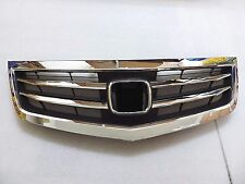 JDM Style aftermarket Polished Chrome front Grille For 12-14 Acura TSX