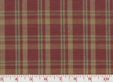 Red Plaid Drapery Upholstery Fabric Clarence House Monega Check CL Cranberry