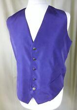 """Art of Silk Tie Rack 100% Silk Blue Waistcoat Evening Dinner  Medium C42-44"""""""