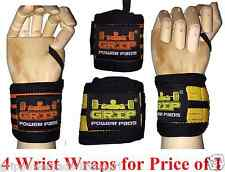 Best Wrist Wraps 2 Pairs / 4 Wraps Extrime Weight Lifting Cross Training