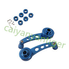 Blue Aluminum Car left right Window Winders/Door Cranks Handles Universal Kit