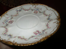"""Haviland Limoges Saucer Cup Plate with Gold Edge Rare Pattern about 6"""""""