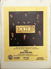 EXILE  Mixed Emotions  8 track tape  1978  Original  Kiss You All Over
