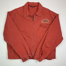 "Men's VNTG Ralph Lauren (L) ""Polo Sportsman"" Red Embroidered Twill Zip Jacket"