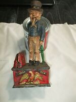 Vintage Uncle Sam Coin Mechanical Bank Cast Iron Missing Arm