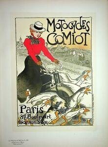 STEINLEN : La belle citadine et les oies - Lithographie originale signée, 1899