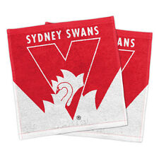 Sydney Swans AFL Face Washer set of 2 Towel Washcloth Flannel Christmas Gift