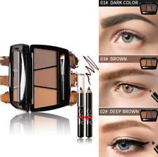 3Color Eyebrow Powder Eye Brow Palette Cosmetic Makeup Shading Kit Brush Mirror