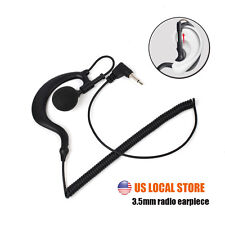 G Shape 3.5mm Jack Listen Only Earpiece Headset For Radio Shoulder Speaker Mic