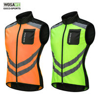 Cycling Vest MTB Bike Reflective Vest High Visibility Sleeveless Bicycle Jersey