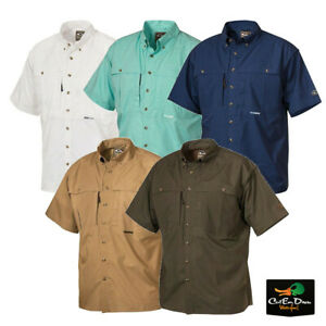 DRAKE WATERFOWL COTTON WINGSHOOTERS SHIRT WITH STAY COOL FABRIC SHORT SLEEVE