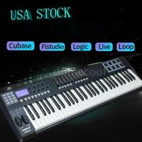 PANDA 61-Key USB MIDI Keyboard Controller 8 Drum Pads w/ USB Cable US Deliver