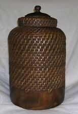 Woven Snake Charmer Basket with Lid