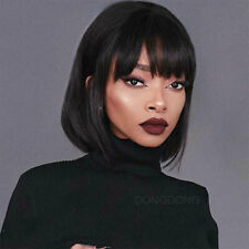 100% European Real Remy Human Hair Wig Bob Style Long/Short Straight Full Wigs s