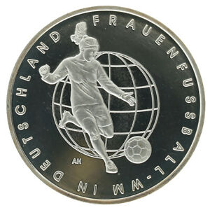Germany - Silver 10 Euro Coin - 'Women's Football Championship' - 2011 - Proof
