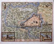 MECKLENBURG VORPOMMERN FESTUNG DEMMIN KOLORIT KUPFER MERIAN TOPOGRAPHIA UM 1660