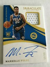 2017-18 Panini Immaculate MARKELLE FULTZ Rookie Patch Auto #/99 RC Auto - RPA